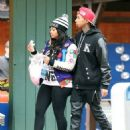 Blac Chyna and Tyga Attend Kendall Jenner's 18th Birthday Bash at Magic Mountain in Valencia, California - October 29, 2013