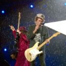 The Rolling Stones perform on a rainy night at Don Valley Stadium, Sheffield, during the 'A Bigger Bang' tour - 27 August 2006 - 454 x 526