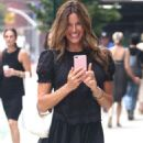 Kelly Bensimon in Black Dress out in New York - 454 x 681