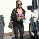 Ashley Tisdale spotted arriving at a studio in Los Angeles, California on December 11, 2012