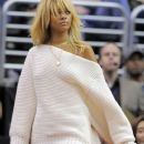 Rihanna at the Denver Nuggets VS. LA Clippers Game