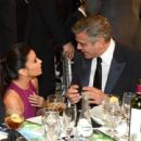 Eva Longoria and George Clooney at the Critics' Choice Movie Awards on Jan. 10, 2013