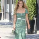 Nina Agdal in Green Dress – Out in New York City