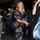 Dianna Agron in Floral Dress at Broadway Theatre in New York - 454 x 681