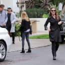 Patrick Schwarzenegger and his mother Maria Shriver are spotted out house hunting for Patrick in Hollywood, California on January 10, 2017 - 454 x 344