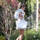 Ashley Tisdale: stopping by Selena Gomez's house for a party in Tarzana