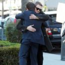 Hayden Christensen meets some friends for lunch in Beverly Hills, California on January 8, 2015
