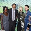 Viola Davis, Will Smith, Margot Robbie and Jared Leto - August 1, 2016- 'Suicide Squad' Premiere in New York for Carrera