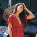 Shay Mitchell – In Red Dress out and about in NYC - 454 x 673