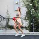 Behati Prinsloo – Arrives at Carasoin Day Spa in West Hollywood