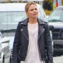 Jennifer Morrison on the set of 'Once Upon A Time' in Vancouver - 454 x 585