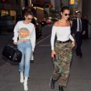 Gigi and Bella Hadid – Out for dinner in NYC - 454 x 507