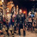 William H. Macy, Hank Azaria, Kel Mitchell, Ben Stiller, Janeane Garofalo, Wes Studi, and Paul Reubens in Universal's Mystery Men - 1999