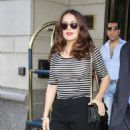 Salma Hayek Leaving Her Hotel In Nyc