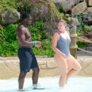 Iskra Lawrence and Philip Payne at Mountain Creek Water Park in New Jersey - 454 x 518