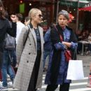 Dianna Agron in Long Coat – Out in New York