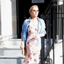 Kylie Minogue at medical imaging centre in London
