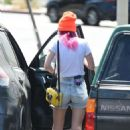 Bella Thorne in Denim Shorts out in Los Angeles - 454 x 715