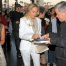 Sharon Stone: leaving the Pantages Theater in Hollywood