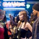 (Left to right) Megan (Shoshana Bush) encounters a rival on the dance floor, Nora (Christina Murphy) while she's with Thomas (Damon Wayans, Jr.) in the comic spoof 'Dance Flick.' Photo Credit: Glen Wilson. Copyright ©2009 by PARAMOUNT PICTURES