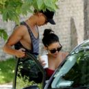 Vanessa Hudgens and Austin Butler were spotted leaving Kings Road Cafe in Los Angeles today, June 14