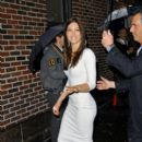 "Jessica Biel at the Ed Sullivan Theater in New York on the ""Late Show with David Letterman 12/06/2011"