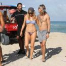 Ellie Goulding with boyfriend Dougie Poynter on Miami Beach January 5,2015 - 454 x 440