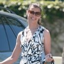 Bridget Moynahan Leaves Church In Beverly Hills, 2009-07-12