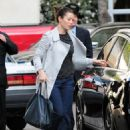 Jessica Biel heads to lunch with a friend at The Peninsula Hotel in Beverly Hills, CA, February 24, 2011