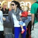 Bethenny Frankel and her daughter Bryn at LAX Airport (October 31)