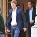 Prince Harry and Prince William leaving the London Clinic (June 14)