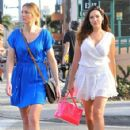 Kelly Brook stops by a nail salon in Beverly Hills, California with a friend on January 7, 2015 - 424 x 594