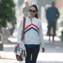 Jordana Brewster walking back to her car in LA - 454 x 682