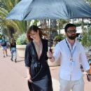 Louise Bourgoin in Blue Dress on the Croisette in Cannes - 454 x 686