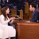 Katherine Langford on 'The Tonight Show Starring Jimmy Fallon' in NY