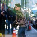John Mayer arrives at his apartment in Soho, New York City