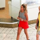 Ashley Tisdale In Red Short Out In Beverly Hills