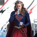 Melissa Benoist – 'Supergirl' Set in Vancouver 8/18/2016