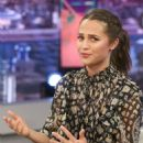 Alicia Vikander – 'El Hormiguero' TV Show in Madrid