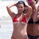Kourtney Kardashian in Red Bikini at the beach in Tulum - 454 x 681