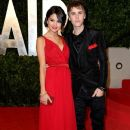 Selena Gomez and Justin Bieber at the Vanity Fair Oscar party. Sunset Tower on February 27.2011 West Hollywood,CA