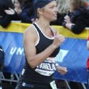 Pamela Anderson completed in the New York Marathon on Sunday, pushing herself to the limit to make it to the finish line