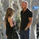 Actor Dominic Purcell cozies up to a mystery girl after enjoying lunch with her at Granville in Studio City, California on January 14, 2015 - 454 x 557