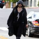 Russell Brand headed for a local liquor store in Beverly Hills, California on March 18, 2012