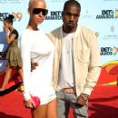 Kanye West and Amber Rose arrive at the 2009 BET Awards held at the Shrine Auditorium in Los Angeles, California - June 28, 2009 - 372 x 594