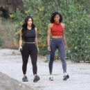 Kim Kardashian – Seen jogging with her personal trainer in Calabasas