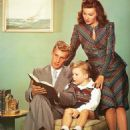 Rhonda Fleming with her husband, Thomas Lane, and their son, Kent