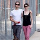 Anne Hathaway and fiance Adam Shulman walking Esmeralda in Brooklyn, NY (August 25) - 454 x 718
