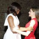 MIchelle Obama and Queen Letizia of Spain Attend 'Lets Girls Learn' - 454 x 303