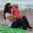 Kourtney Kardashian: spends the day on the beach in Miami